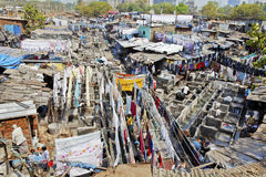 Catena di montaggio di Dhobhi Ghat Mumbai Fotografia Stock Libera da Diritti