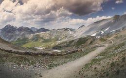 Catena di montagna Bocchetta di Forcola, Ortler Fotografia Stock