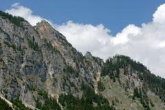 Catena di montagna delle alpi Fotografia Stock