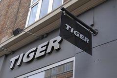 catena di negozi della tigre Fotografia Stock