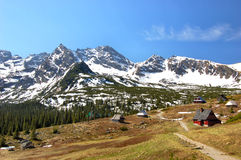 Catena di Orla Perc in montagne polacche di Tatra Immagini Stock