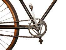 Catena di vecchio stile sulla bicicletta d'annata fotografie stock