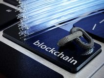 Catena digitale di Blockchain royalty illustrazione gratis