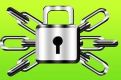 Catena e serratura Immagini Stock Libere da Diritti