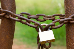 Catena e serratura Fotografia Stock Libera da Diritti