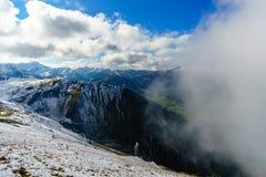 Catena montuosa in alpi in Baviera in Germania Fotografia Stock Libera da Diritti