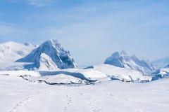 Catena montuosa antartica Fotografie Stock Libere da Diritti
