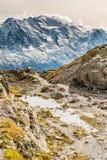 Catena montuosa con Mont Blanc - la Francia Immagine Stock Libera da Diritti
