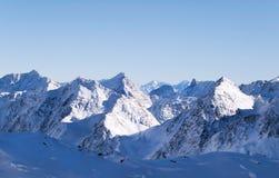 Catena montuosa del ghiacciaio di Stubai Alpen Immagini Stock Libere da Diritti