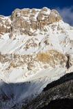 Catena montuosa del massiccio di Devoluy nell'inverno Alpi francesi, Francia Immagini Stock Libere da Diritti