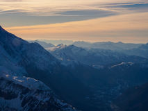 Catena montuosa del Monte Bianco in Francia Fotografia Stock Libera da Diritti