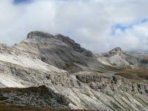 Catena montuosa del parco naturale di Odle Puez, alpi della dolomia, Italia Immagini Stock Libere da Diritti