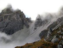 Catena montuosa del parco naturale di Odle Puez, alpi della dolomia, Italia Immagine Stock Libera da Diritti