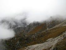 Catena montuosa del parco naturale di Odle Puez, alpi della dolomia, Italia Immagini Stock