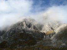Catena montuosa del parco naturale di Odle Puez, alpi della dolomia, Italia Fotografia Stock