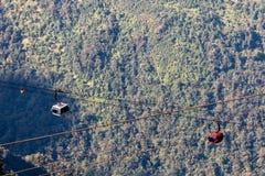 Catena montuosa della sommità fansipan dell'più alta montagna dell'Indocina nella provincia di Lao Cai di sapa nordica del Vietna Fotografie Stock