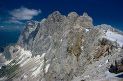 Catena montuosa di Dachstein Fotografia Stock