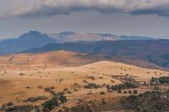 Catena montuosa di Drakensberg Fotografia Stock