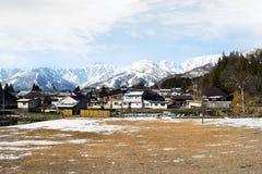 Catena montuosa di Hakuba nell'inverno in anticipo di pomeriggio Immagini Stock
