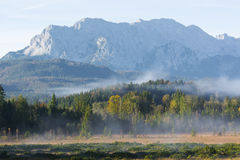 Catena montuosa di Karwendel Fotografia Stock