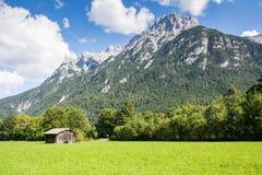 Catena montuosa di Karwendel in Baviera Immagini Stock Libere da Diritti