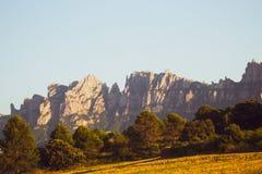 Catena montuosa di Montserrat La Catalogna, Spagna fotografia stock libera da diritti