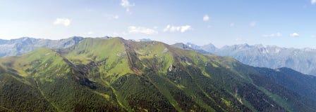Catena montuosa di panorama Immagini Stock