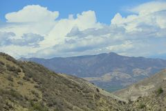 Catena montuosa di Santa Paula California Immagini Stock Libere da Diritti