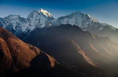 Catena montuosa himalayana Immagini Stock Libere da Diritti