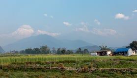 Catena montuosa himalayana Fotografia Stock