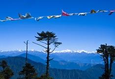 Catena montuosa himalayana nel Bhutan Immagine Stock Libera da Diritti