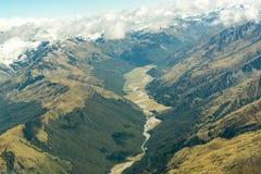Catena montuosa, isola del sud Nuova Zelanda immagine stock