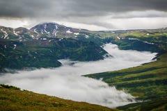 Catena montuosa, Kamchatka immagini stock