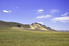 Catena montuosa in mezzo al deserto Fotografie Stock