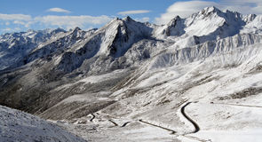 Catena montuosa nel Tibet Fotografia Stock