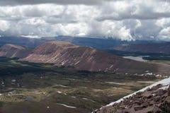 Catena montuosa nella foresta nazionale di Uinta nell'Utah Fotografia Stock Libera da Diritti