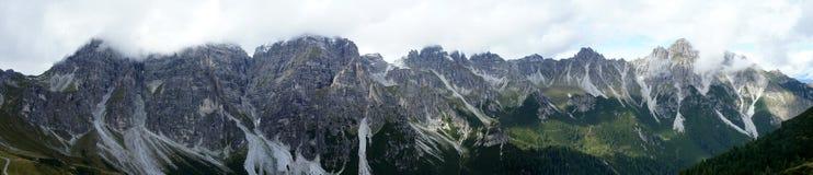 Catena montuosa nella valle di Stubai Immagini Stock