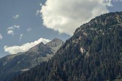 Catena montuosa nella valle di Stubai nel Tirolo, Austria Fotografia Stock