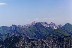 Catena montuosa nelle alpi di Allgäu in Baviera Immagine Stock Libera da Diritti