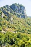 Catena montuosa in a nord-ovest della penisola di Balcani, Serbia Fotografia Stock