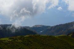 Catena montuosa sull'isola del Madera Immagini Stock Libere da Diritti