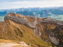 Catena montuosa vicino a Pilatus Fotografia Stock