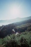 Catena montuosa vulcanica 4 Fotografia Stock
