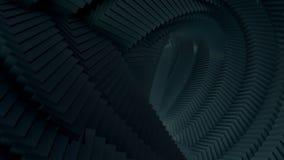 Catena nera delle forme geometriche 3d nel muoversi avvolto illustrazione vettoriale