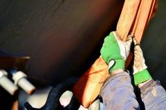 Catena resistente di industriale nell'industria dell'edilizia Fotografia Stock