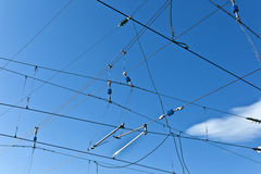 Catenary with blue sky Stock Photography