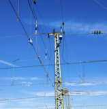 Catenary with blue sky Royalty Free Stock Photography