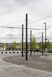 Catenary tram line Stock Photos