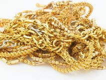 Catene dell'oro Fotografie Stock Libere da Diritti