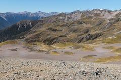 Catene montuose in alpi del sud, Nuova Zelanda Fotografia Stock Libera da Diritti